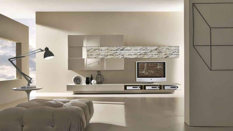 Minimal Grey Color Living Room Design