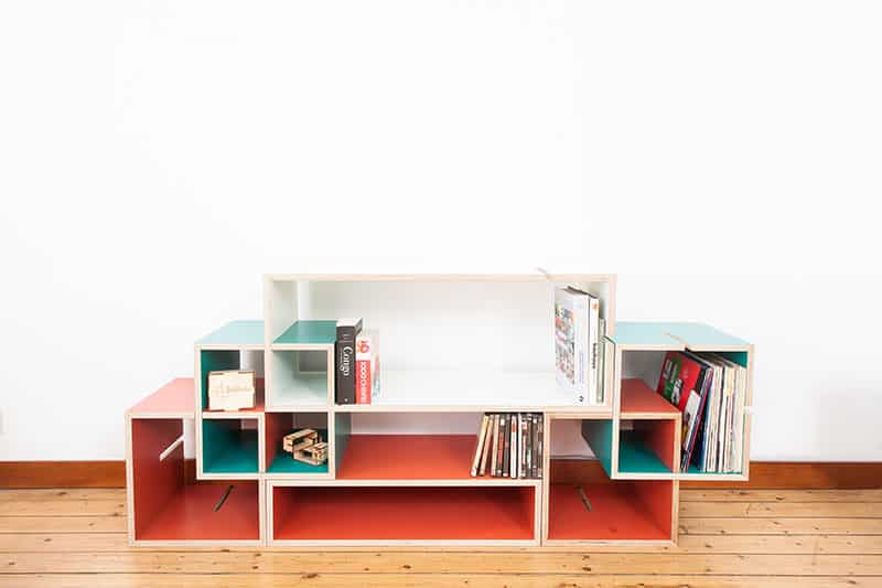 Momodul modular storage furniture system by xavier coenen for Modular bedroom furniture systems