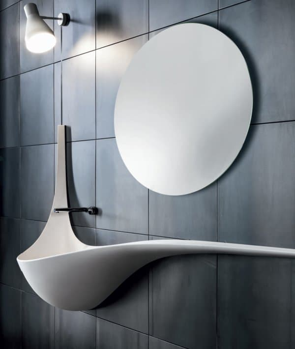 Wing Wall Sink by Ludovico Lombardi for Falper # Wasbak Siphon_141741
