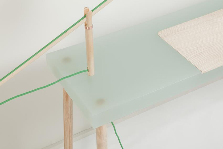 Resin Writing Table by Roel Huisman