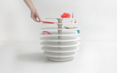 Les Ruches Low Tables by Avril de Pastre