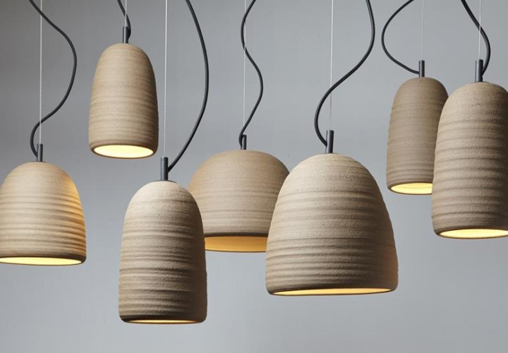 Stoneware Lighting Collection by Adam Cornish