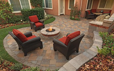 Backyard Stone Paving