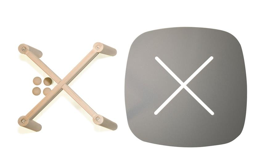 Button Table by Marcello Santin and Joeri Reynaert