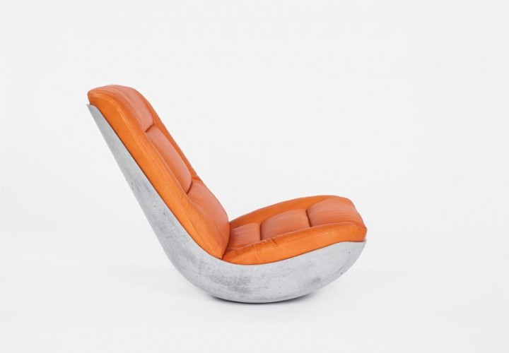 Swing Concrete Rocking Chair by Paulsberg