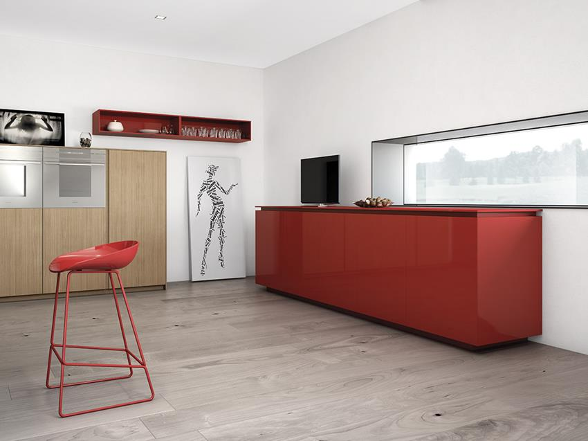 Filo young kitchen by marconato zappa for comprex for Dynamic kitchen design interiors
