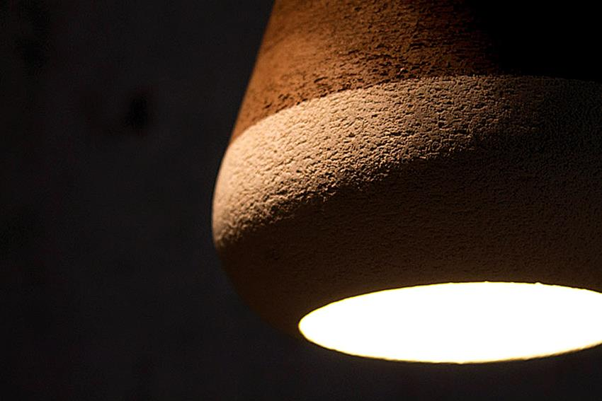 Olla Clay Lamp by Davide G Aquini for Ilide