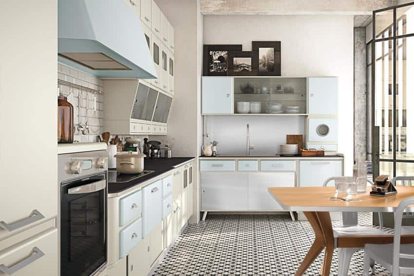 St Louis Retro Looking Kitchen Series By Marchi Cucine