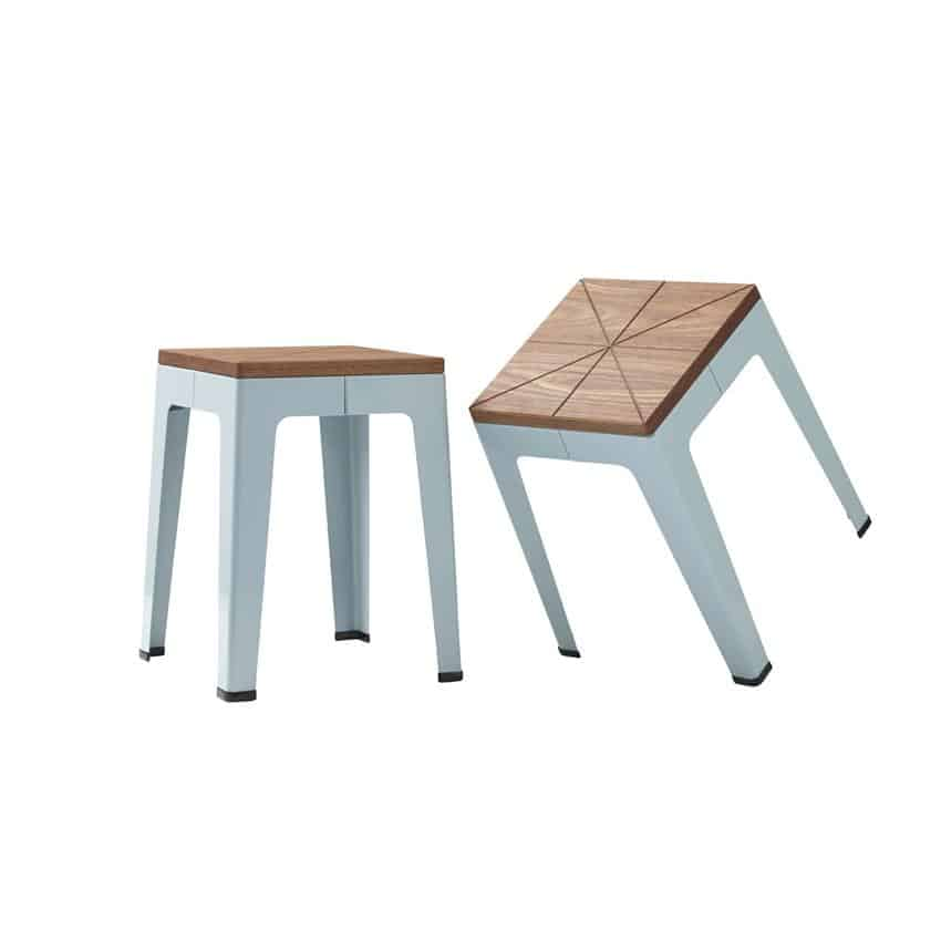 Timber Tuck Stool by Nicholas Karlovasitis & Sarah Gibson