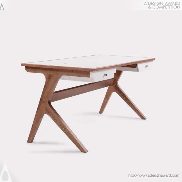 9 marken desk designer claudio sibille has combined the scandinavian - Scan Design Desk