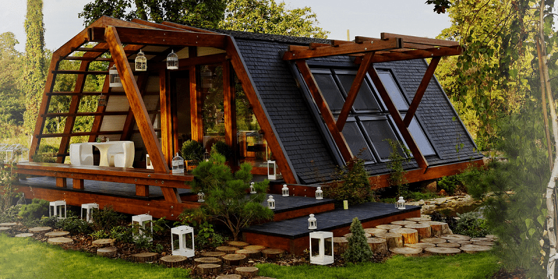 Tiny eco house for Small sustainable homes