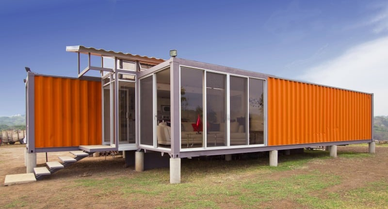 Elegant shipping container home