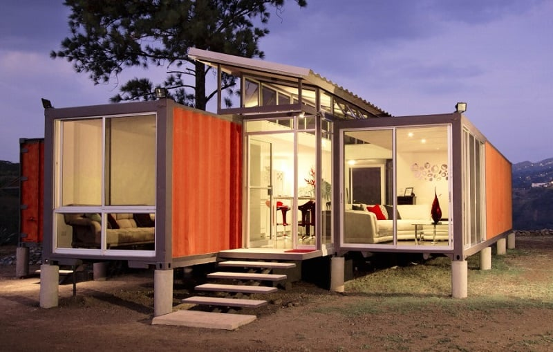 Elegant shipping container home1