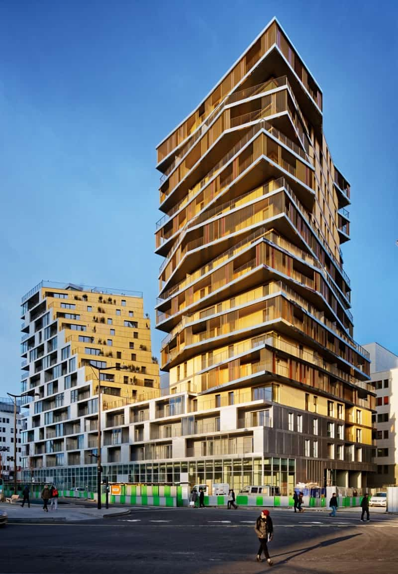 housing paris architectural project character changes building residential tower modern apartments architects hamonic masson vollenweider comte apartment parisian france homes