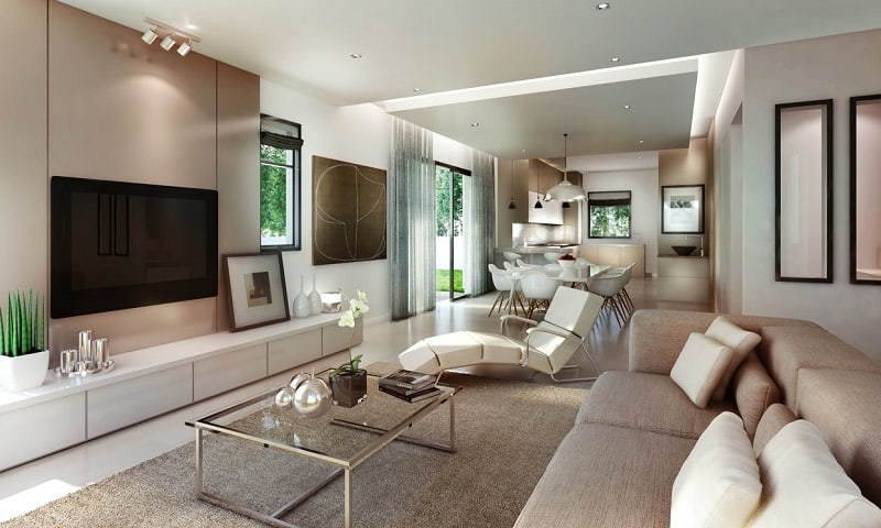 12 awesome living room designs - Idee deco salon taupe et blanc ...