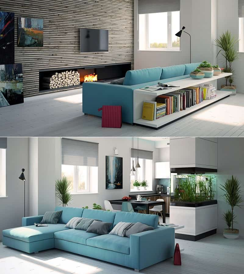 12 awesome living room designs for Living room ideas apartment