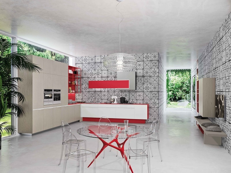 Kitchens with flexible design and modular elements