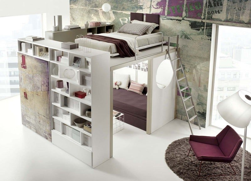 Modern bedrooms for youngsters with practical modular furniture