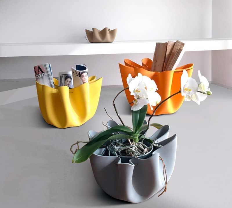 Shell – a collection of playful rubber baskets