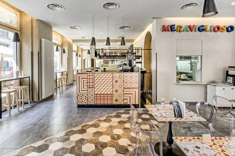 Italian restaurant with a warm retro interior1