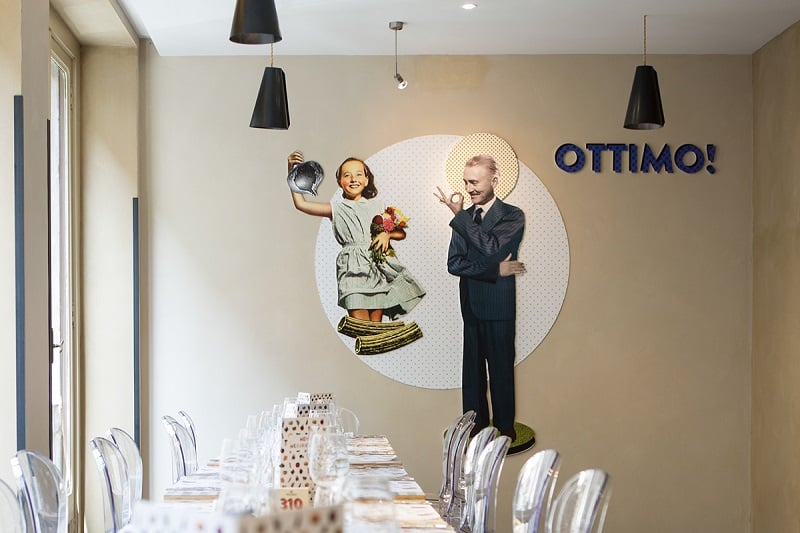 Italian restaurant with a warm retro interior3