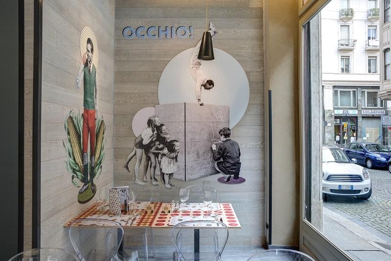 Italian restaurant with a warm retro interior4