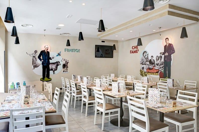 Italian restaurant with a warm retro interior5