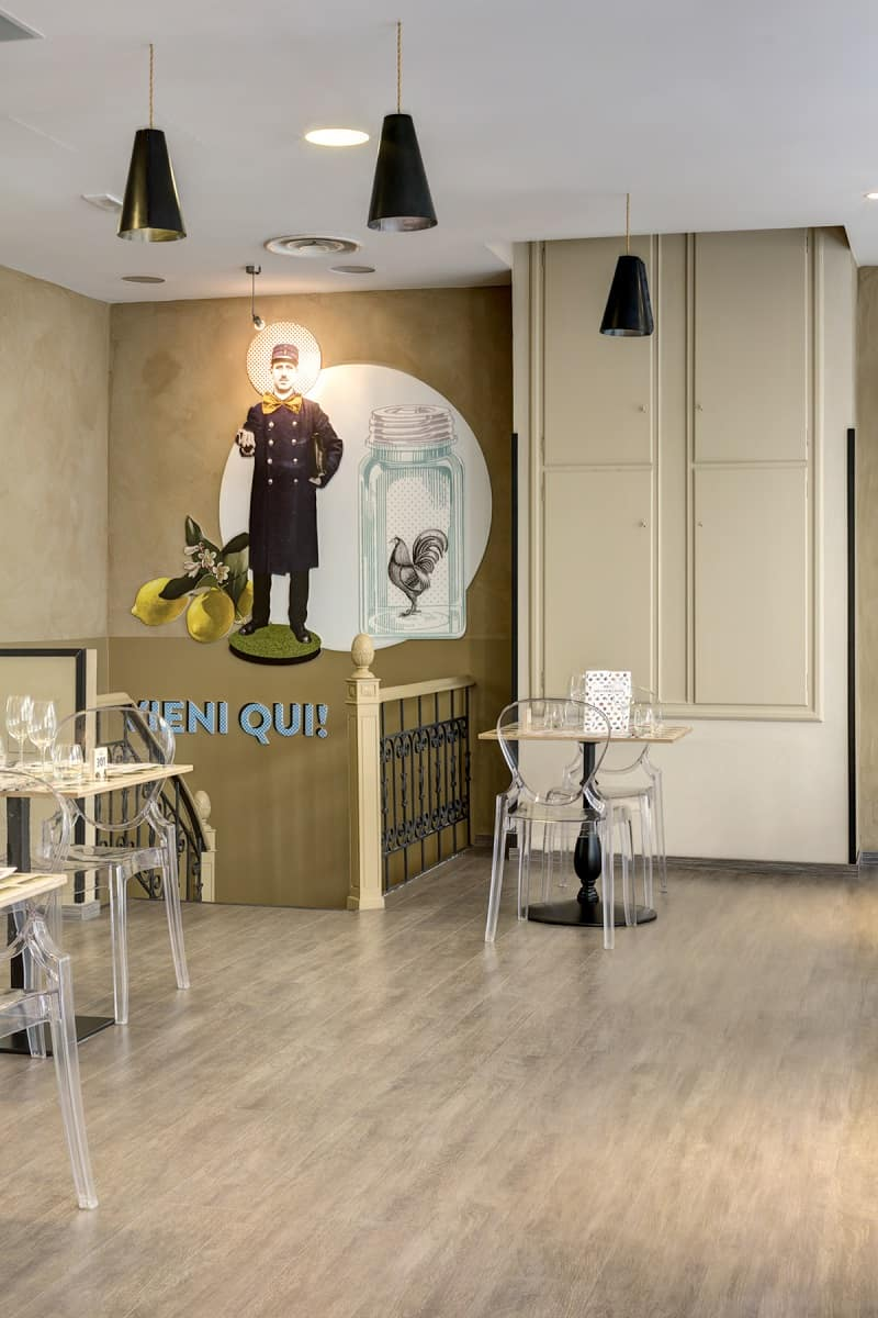 Italian restaurant with a warm retro interior7