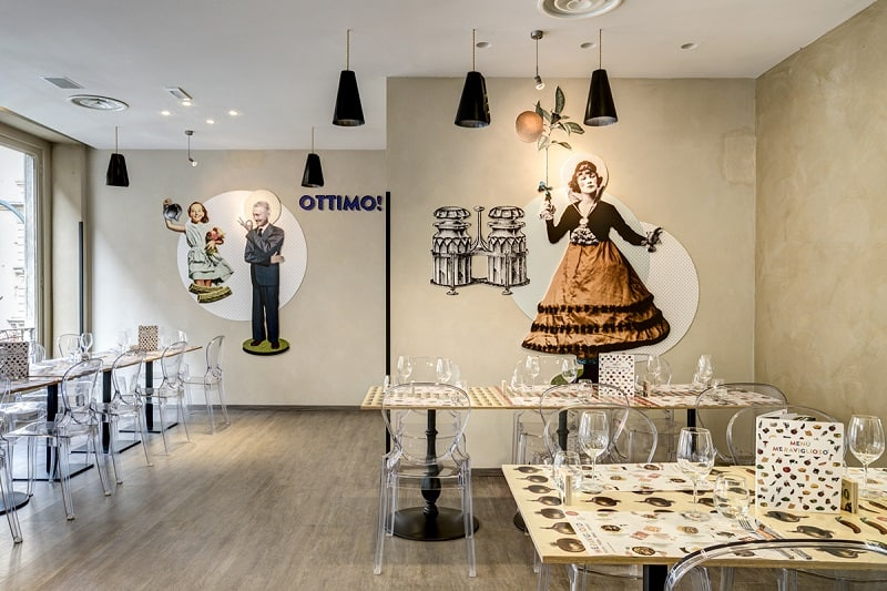Italian restaurant with a warm retro interior8