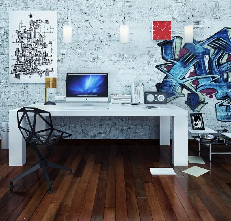 15 ideas for decorating your home workspace7