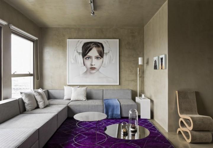 Modern grey apartment in Sao Paolo