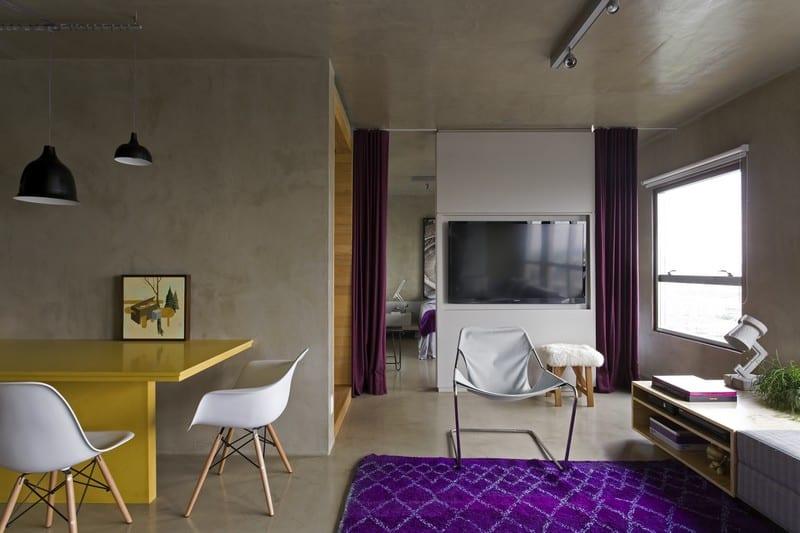 Modern grey apartment in Sao Paolo2