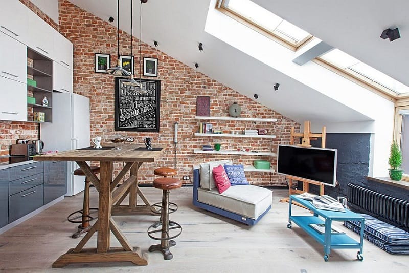 Small apartment in a former factory with an industrial charm