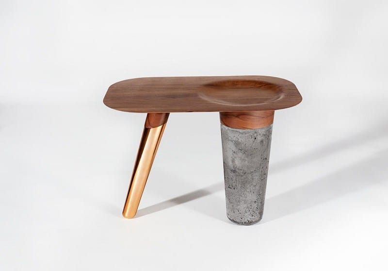 Awesome tables made of wood, concrete and copper2