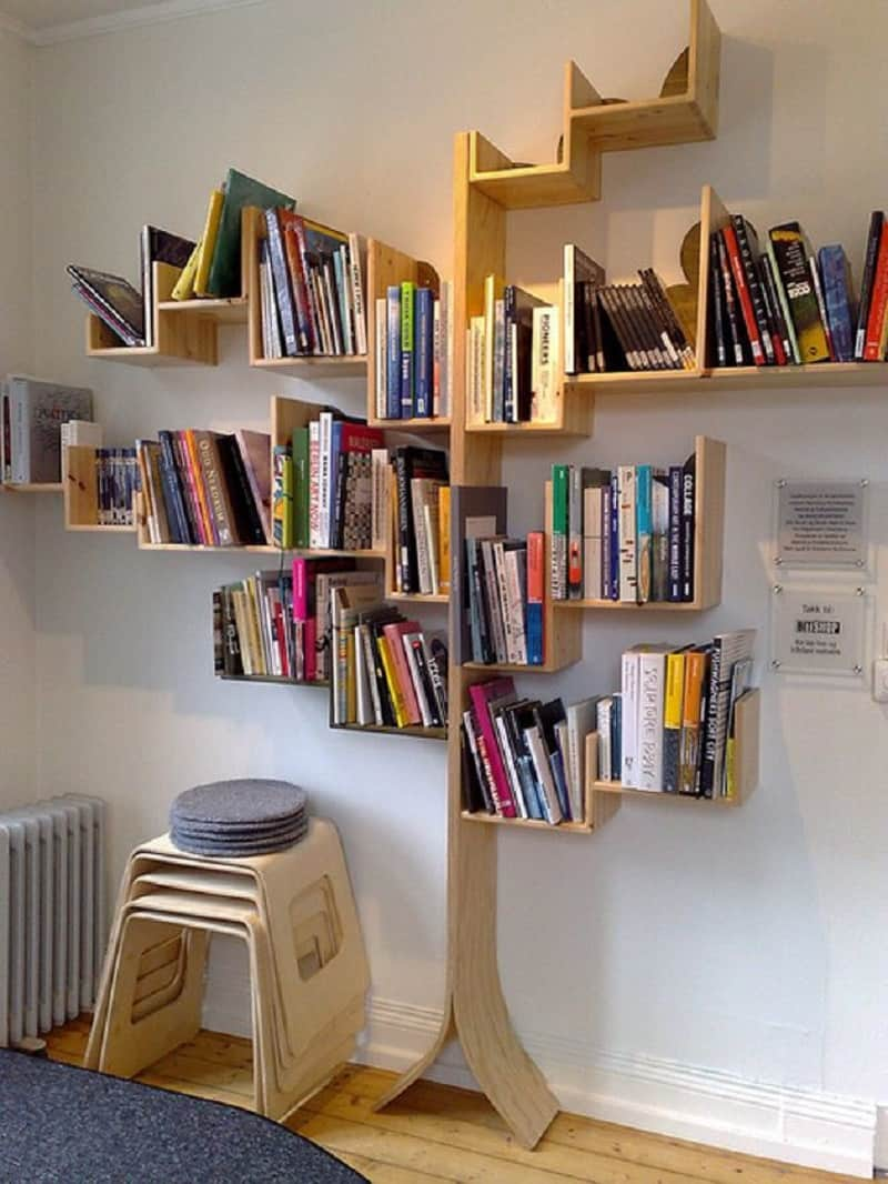 Bookshelves that bring nature in the interior3