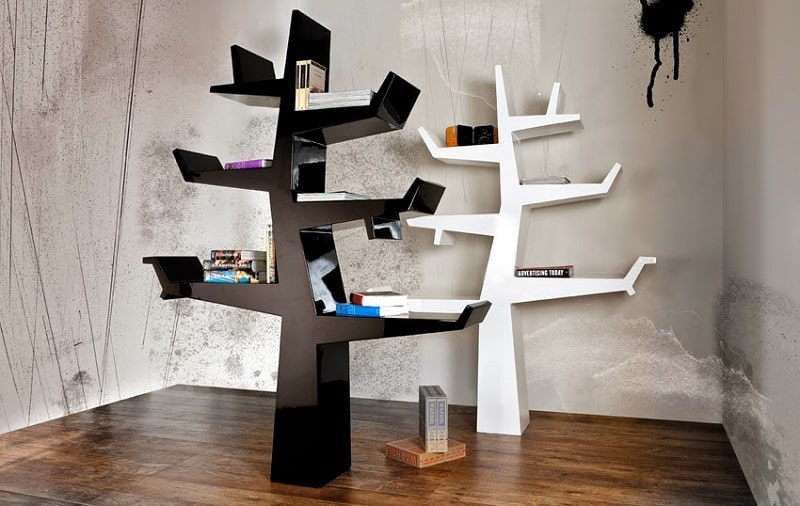 Bookshelves that bring nature in the interior4