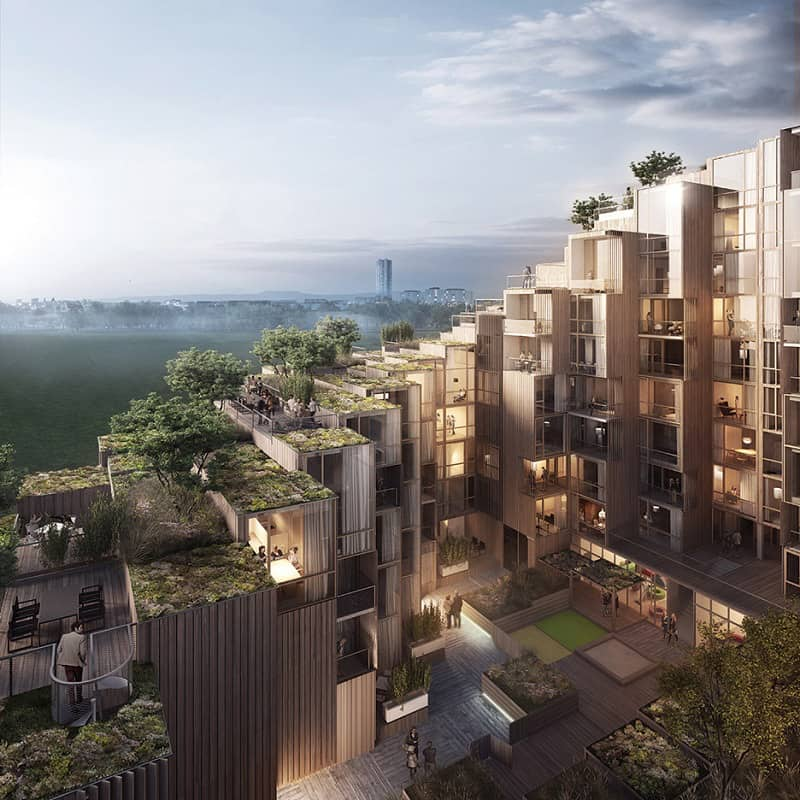 New residential complex in Stockholm by Bjarke Ingels