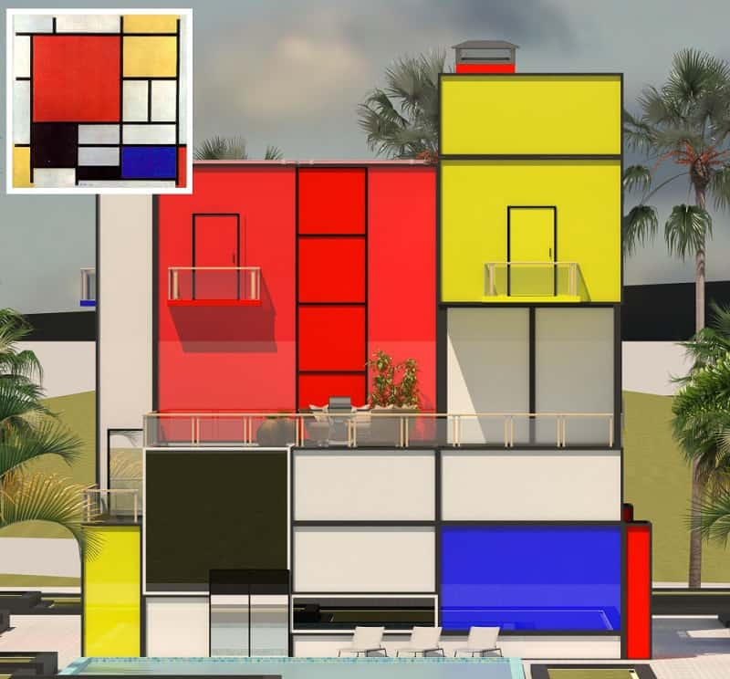 Villa inspired by Modrian's painting1