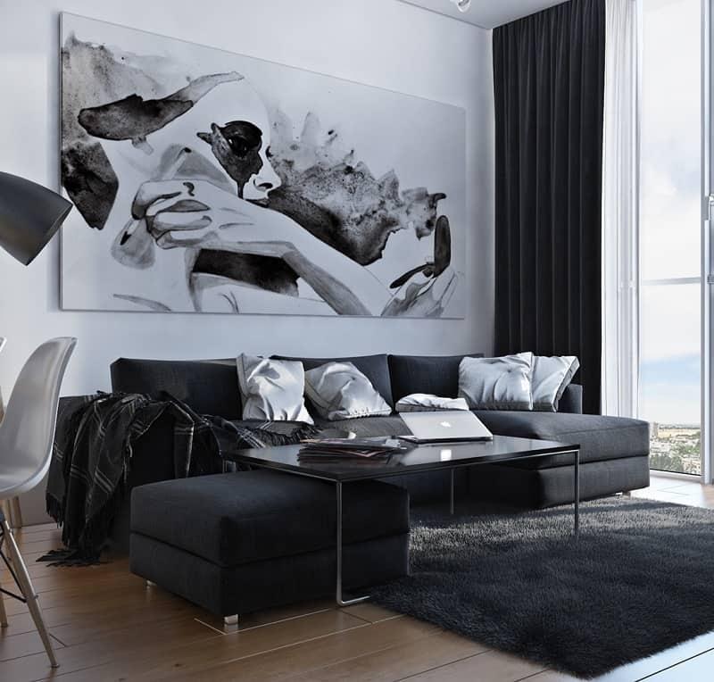 Artistic apartment with monochromatic color scheme1