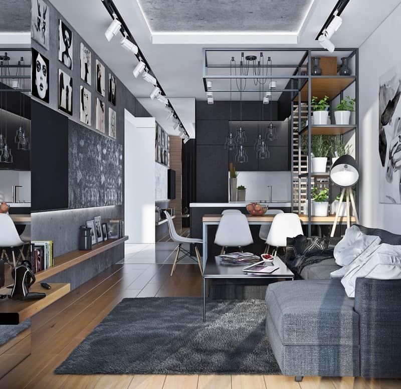 Artistic apartment with monochromatic color scheme3