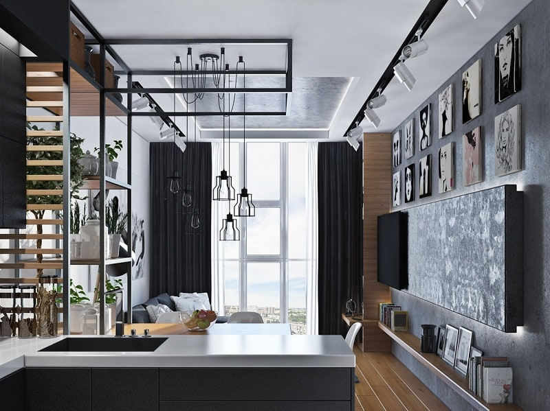 Artistic apartment with monochromatic color scheme4