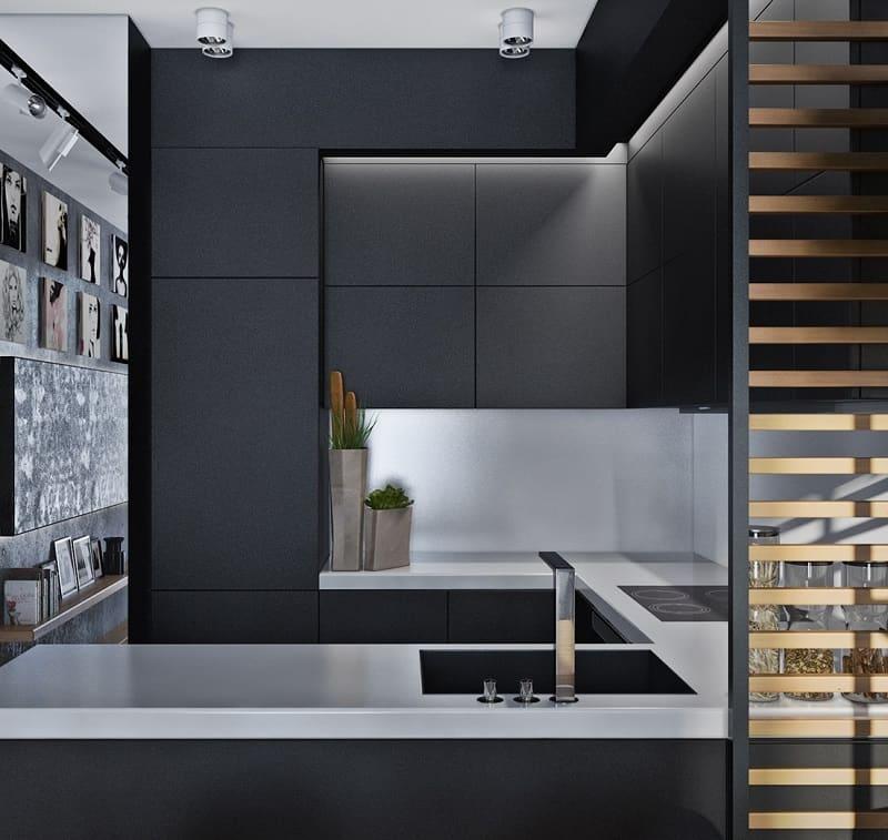 Artistic apartment with monochromatic color scheme5