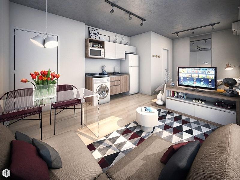 Pleasant mini-apartment with practical design1