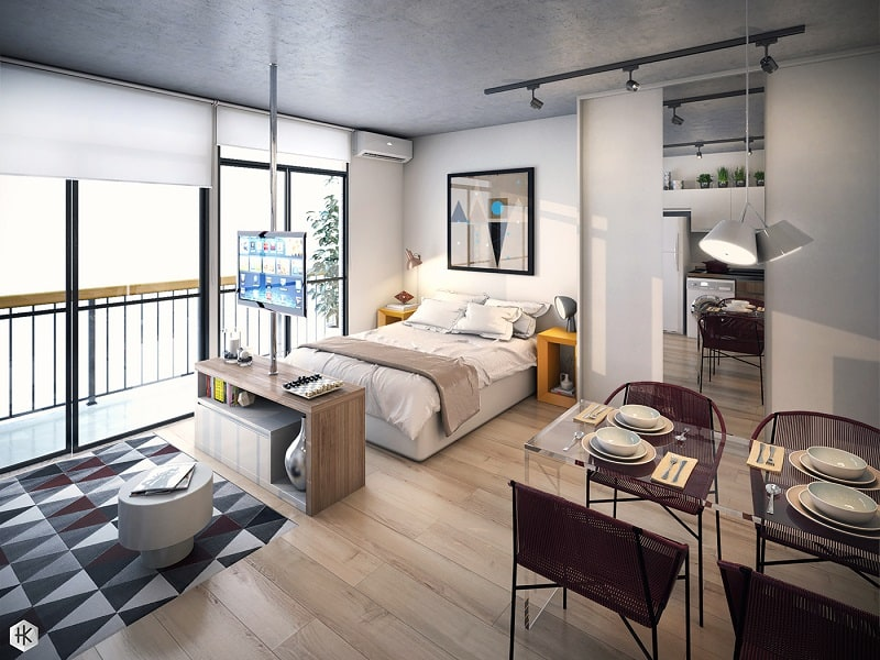 Pleasant mini-apartment with practical design2