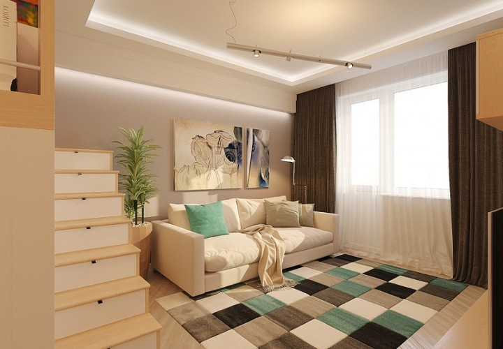 Small and comfortable 28-square meter home in Russia