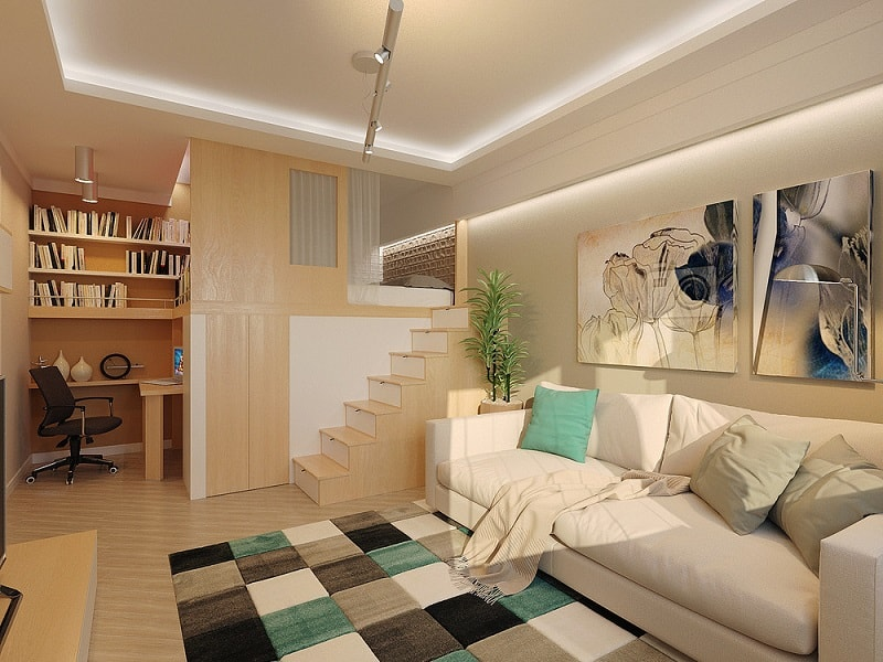 Small and comfortable 28-square meter home in Russia1
