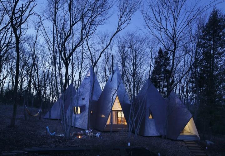 Amazing tepee-shaped house in Japan