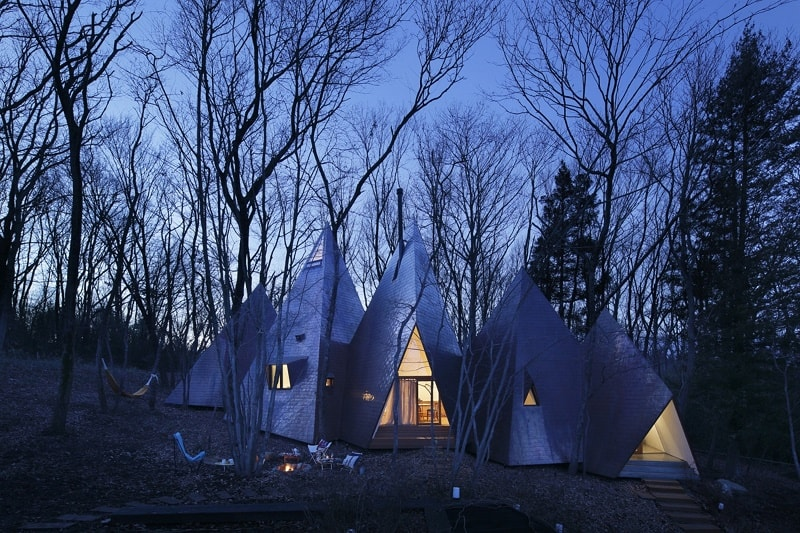 Amazing tepee-shaped house in Japan
