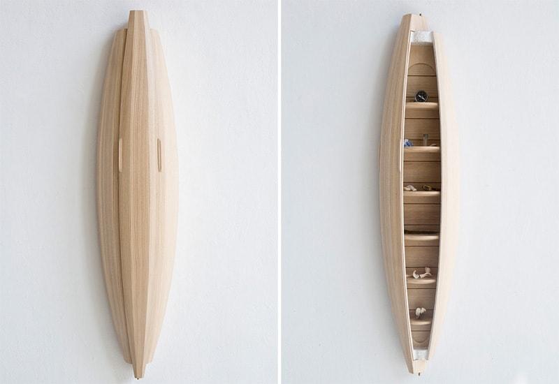 Awesome kayak-shaped storage unit