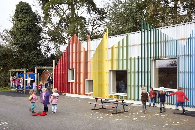 Colorful kindergarten in England9